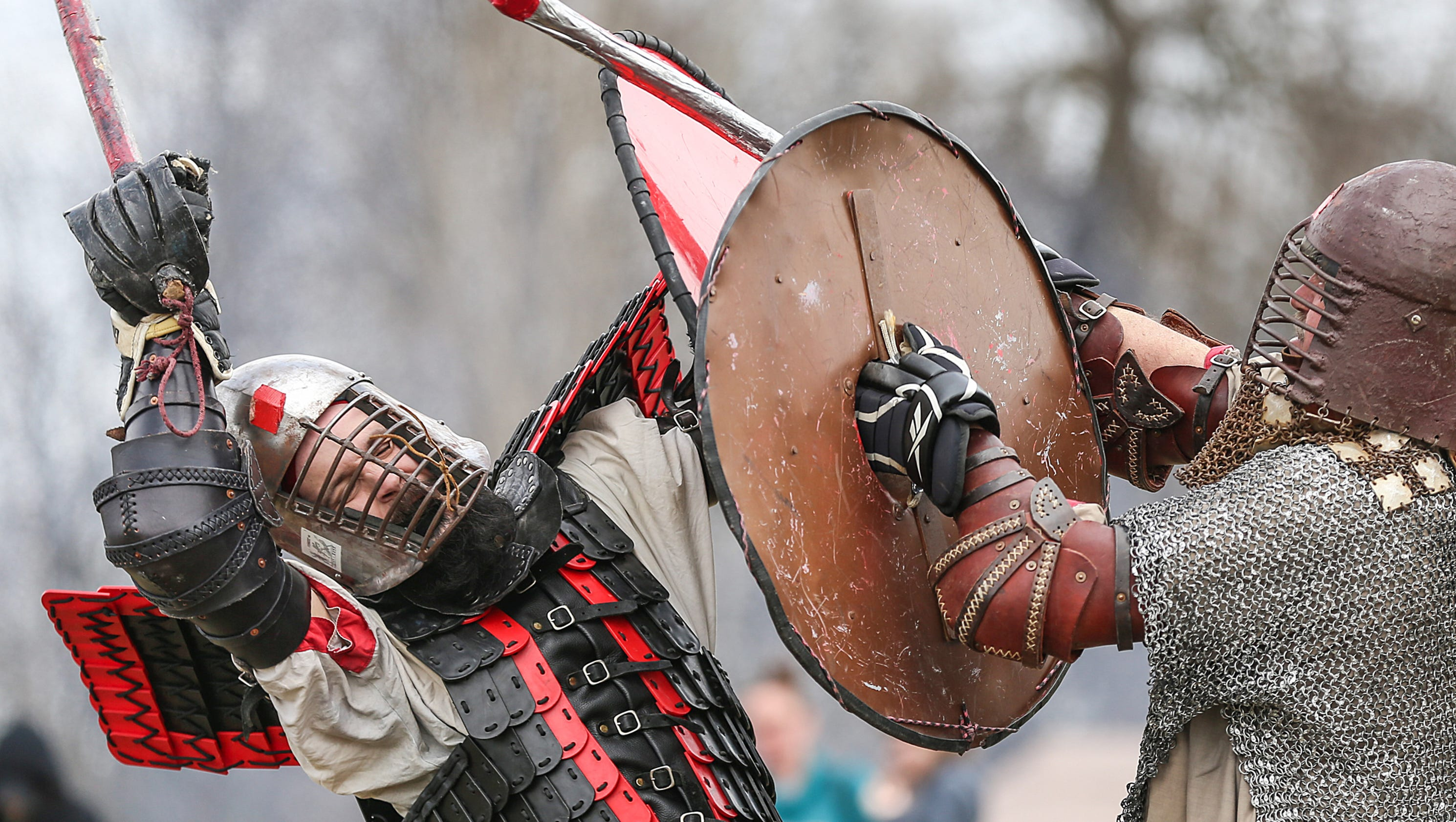 Image result for At Viking Fest, watch fighters whack each other, eat turkey legs and try on chainmail