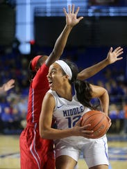 MTSU's Brea Edwards (12) is getting closer to becoming
