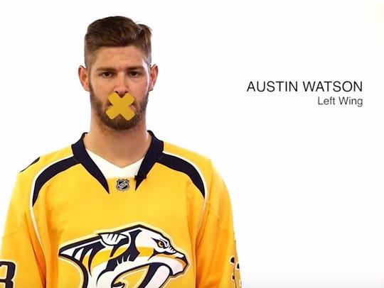 Predators' forward Austin Watson participated in a