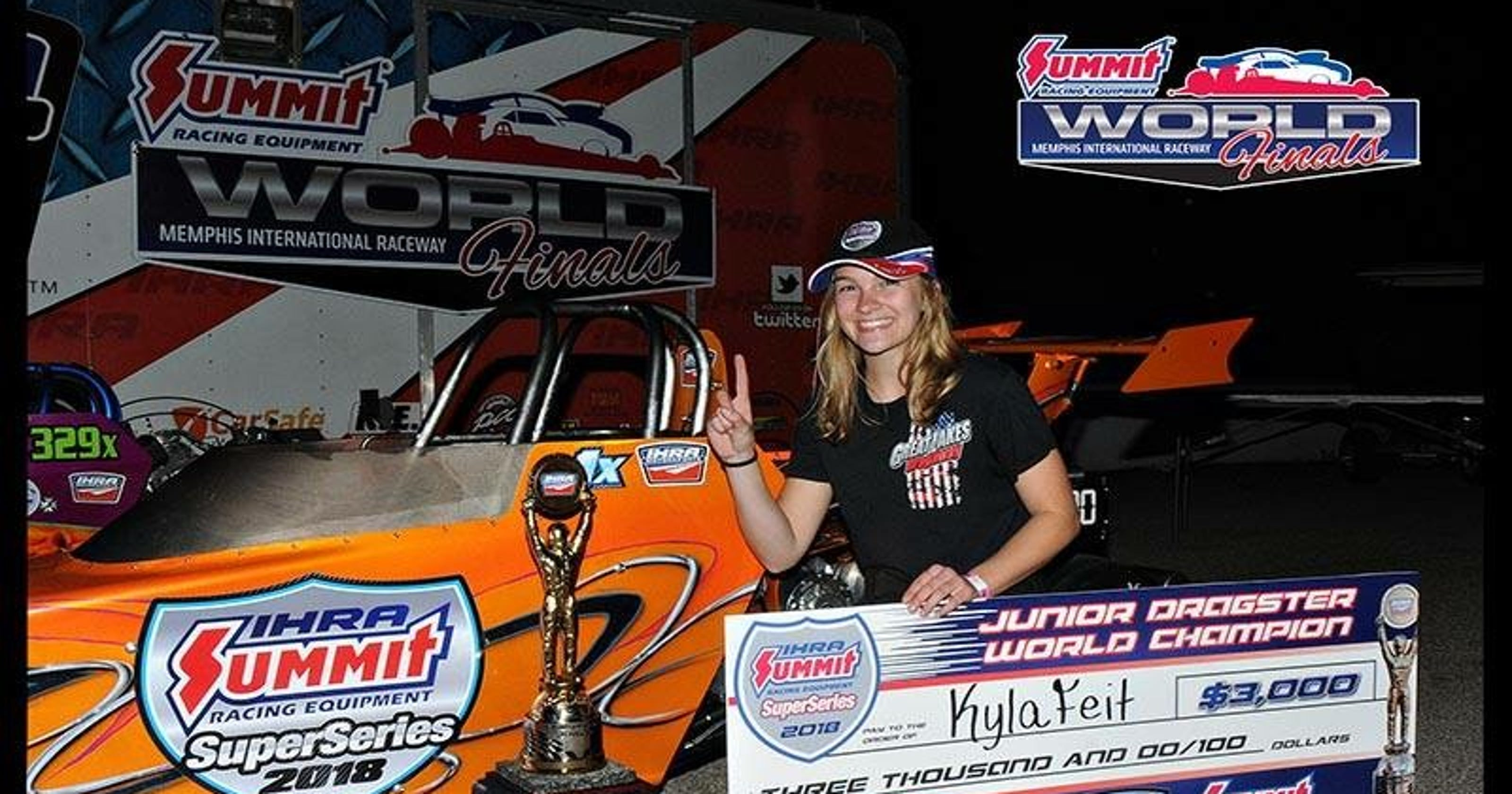Drag Racing Rapids Kyla Feit Wins Title Of Junior World Champion