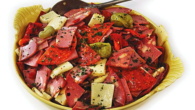 Lotsa Pasta's meat and cheese antipasto salad