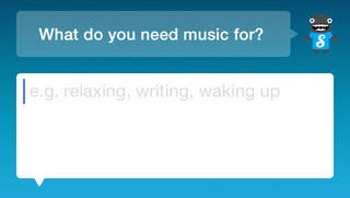A screenshot of the Songza app.
