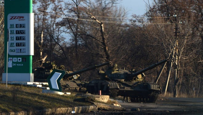 Pro-Russia territory controlled by rebels in eastern Ukraine.