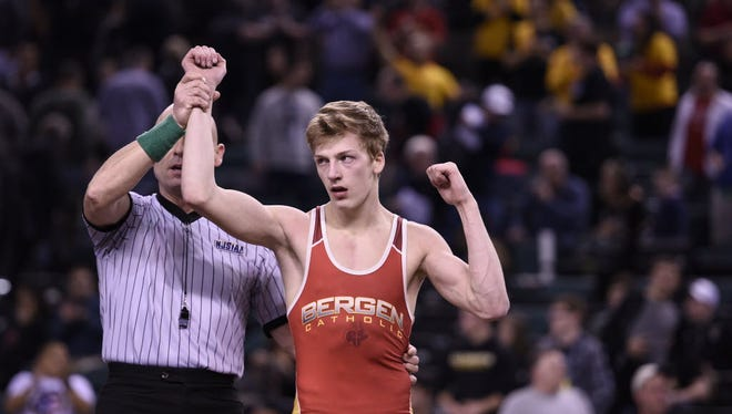 Bergen Catholic wrestler Shane Griffith is seeking his third state title in Atlantic City.