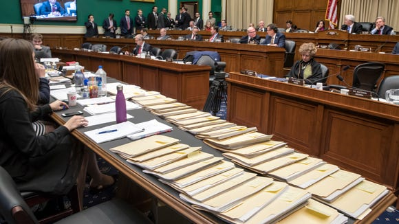 "Folders containing amendments to the GOP's ""Obamacare"""