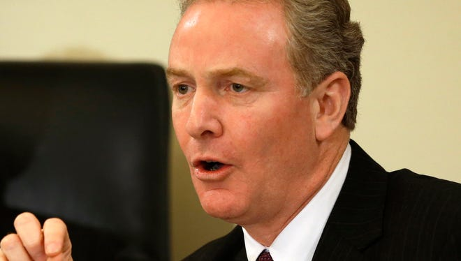 Rep. Chris Van Hollen, D-Md., ranking Democrat on the House Budget Committee, speaks during a hearing on the impact of sequestration Feb. 21 on Capitol Hill.