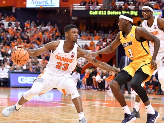 After a shaky sophomore season, six games into his junior year Frank Howard has been solid for Syracuse.