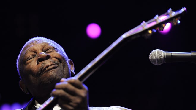 B.B. King performing during the 45th Montreux Jazz Festival.