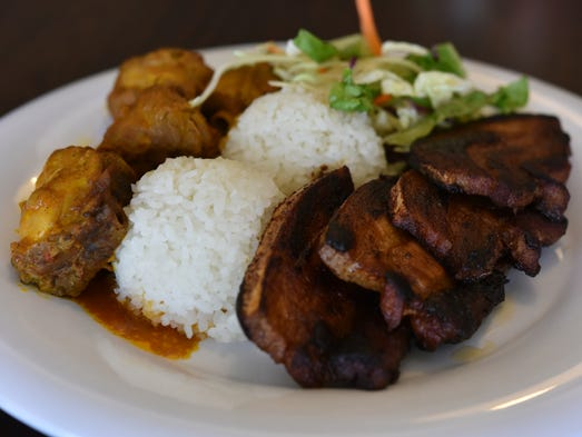 Here it is: Pork belly and kadon pika combo dish at