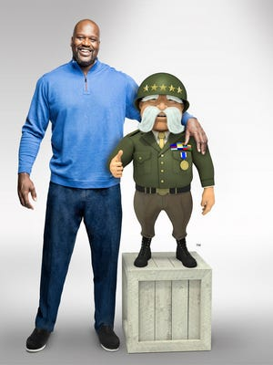 Shaquille O'Neal and The General's mascot will appear together in a new campaign launching this summer.