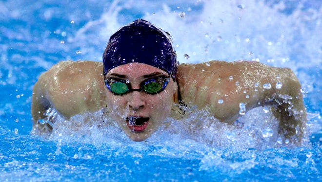 West York's Courtney Harnish won two more state gold medals to cap her high school career this past winter.