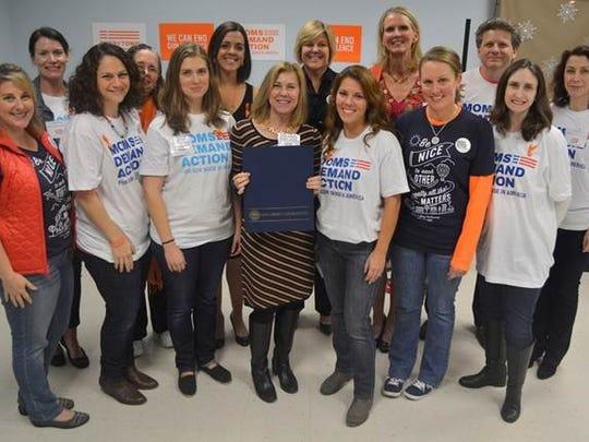 Moms Demand Action for Gun Sense in America volunteers,