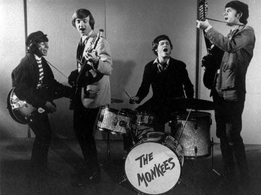 The Monkees -- Davy Jones, Peter Tork, Micky Dolenz and Mike Nesmith, from left -- are shown in 1966.