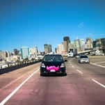 Talking Your Tech  Luliana Urban, Lyft driver with her car and mustache