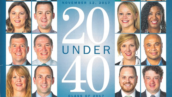 Cover of 20 Under 40 special publication inserted in the Sunday, Nov. 12, 2017, issue of the Abilene Reporter-News
