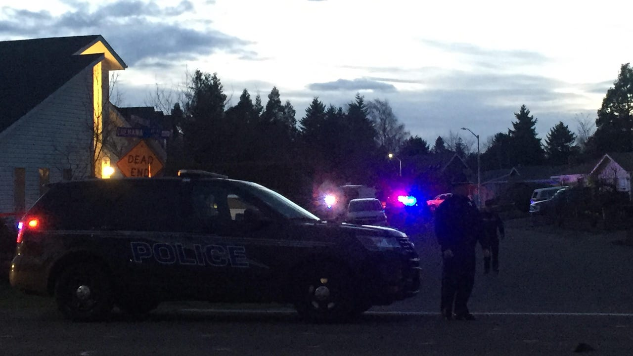 Keizer police blocked off portions of Chemawa Road on Wednesday night.