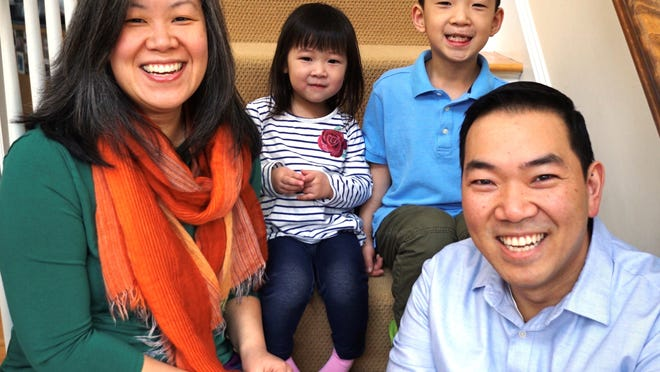 Westford Select Board Member Anita Tonakarn-Nguyen and her family pause for a photo. Pictured are Tonakarn-Nguyen, her husband, Hieu Nguyen, daughter Nalinee Nguyen and son, Sunti Nguyen.