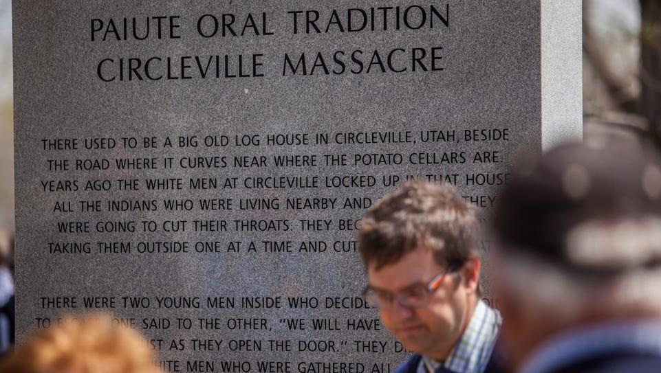 Circleville Massacre Memorial dedication, Friday, April