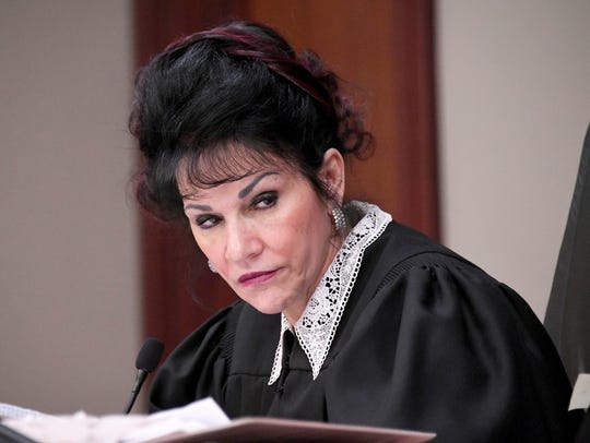 Judge Rosemarie Aquilina listens to Abigayle Bergeron's