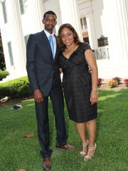 The Hendrixes after Tyrone's swearing-in as Ward 6