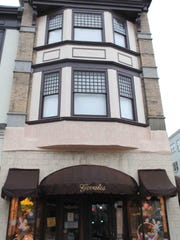 The storefront of Govatos restaurant and candy shop was rehabbed in 2011.