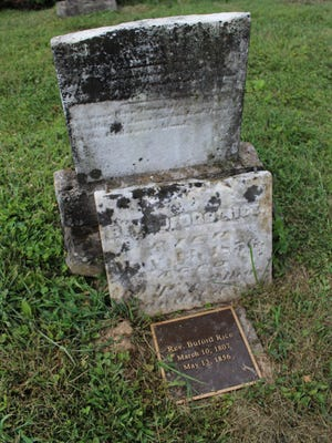 A grave in the Union Rice Cemetery shows the diversity of graves in the small cemetery. The 24 members of the Wilson family will be reinterred at the Union Rice Cemetery.