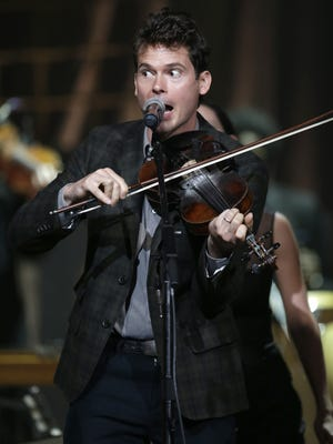 Ketch Secor of Old Crow Medicine Show performs during the Americana Music Honors and Awards Show on Sept. 18, 2013, in Nashville.