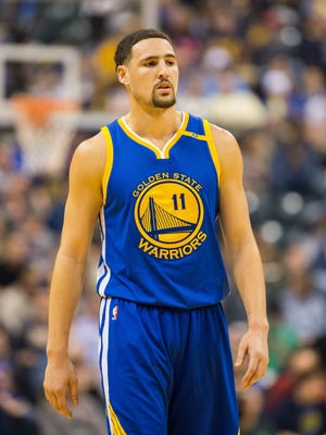 """Golden State Warriors guard Klay Thompson (11) says that his success in the NBA has been """"surreal""""."""