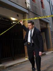 "Carl Mariano portrays a young Joe Kenda on ""Homicide Hunter: Lt. Joe Kenda."""