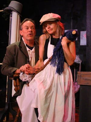 """Real-life husband and wife Trey and Laura Smith perform all the roles in the two-person play """"A Christmas Carol... more or less,"""" presented by Be Theatre."""