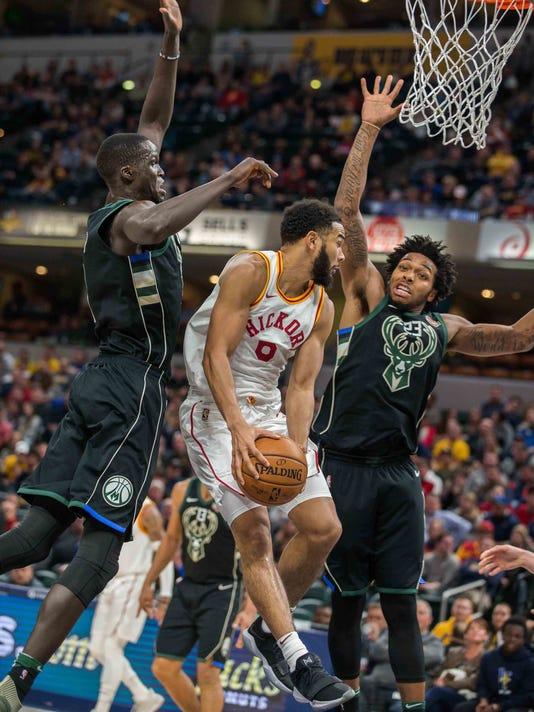 NBA: Milwaukee Bucks at Indiana Pacers