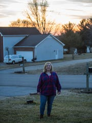 Holly Bogue poses for a portrait outside her home in Clarksville on Feb. 6, 2018.