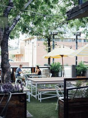 A view of the patio area at Original ChopShop in Scottsdale.