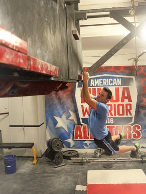 "Nick Kupper, of Salem, training at Movement Lab in Hainesport, New Jersey. He will be featured on ""American Ninja Warrior"" Monday, June 25."