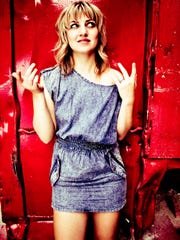 Anais Mitchell performs with fellow Vermont native Caitlin Canty at Higher Ground on Friday.