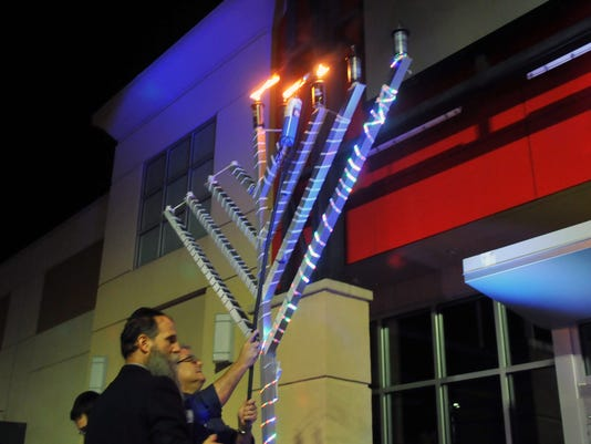 Menorah lighting in Viera