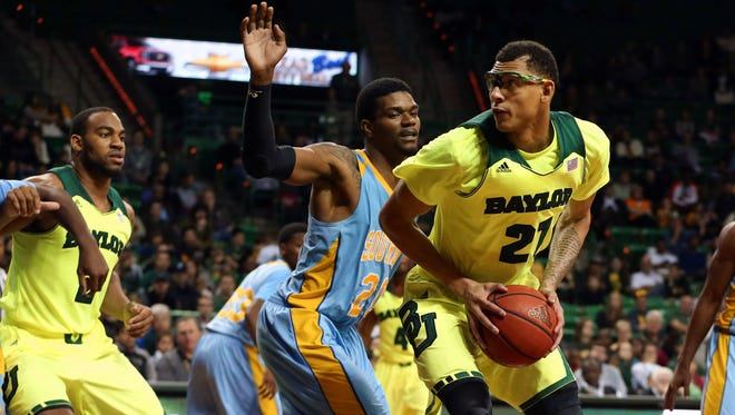 Baylor Bears center Isaiah Austin looks to shoot during the second half against the Southern University Jaguars at The Ferrell Center.