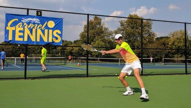 Carmel tennis player Presley Thieneman is 16-0 on the season.