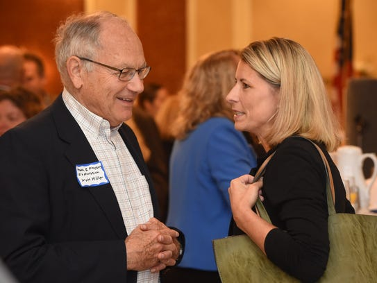 Robin Lois, right, candidate for Dutchess County comptroller,