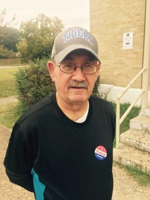 Joe Simi voted at St. Michael Catholic Church on Summer.
