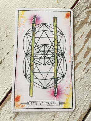 Aquarius (1/21-2/19) // Two of Wands  The Two of Wands