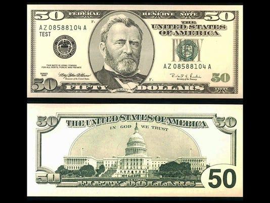 NEW U.S. $50 BILL