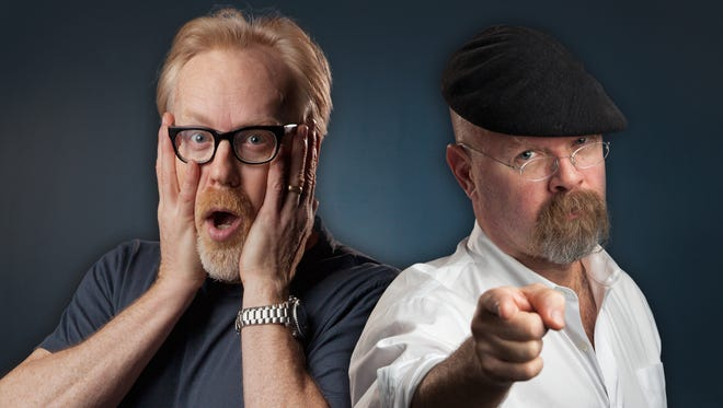 """Adam Savage (left) and Jamie Hyneman of """"Mythbusters"""" will launch the final season of their Emmy-nominated series in January."""