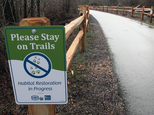 A portion of Clear Creek Trail north of Waaga Way reopened