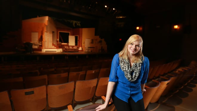 """Megan Schettler Schug, 29, plays Carol in the production """"Girls' Weekend"""" which can be seen at the Des Moines Playhouse Oct. 17-Nov. 2."""