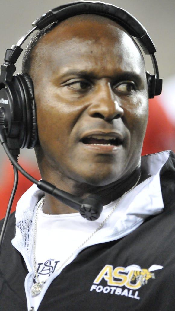 Alabama State University's Coach Reggie Barlow during