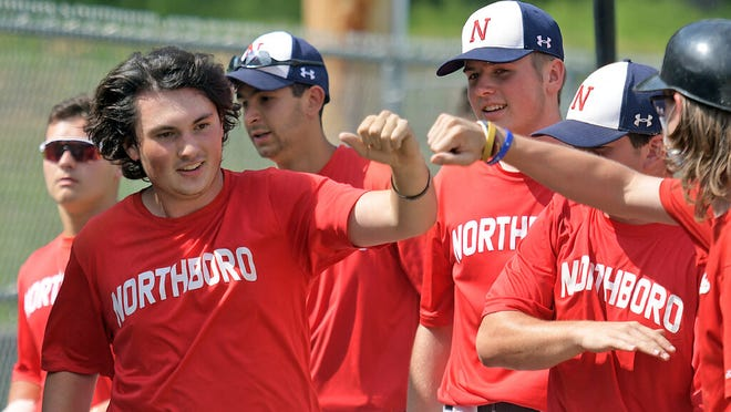 These Northboro players had plenty to celebrate while winning the Worcester County Baseball League title this summer.