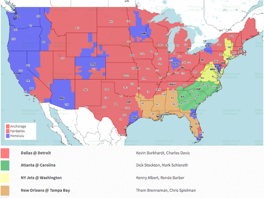 Will Week 11's Saints-Buccaneers game be broadcast in your area?
