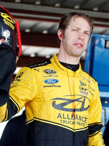 Sprint Cup Series driver Brad Keselowski during practice