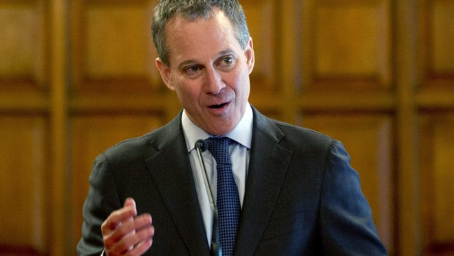 A May 1, 2013 file photo of New York Attorney General Eric Schneiderman.